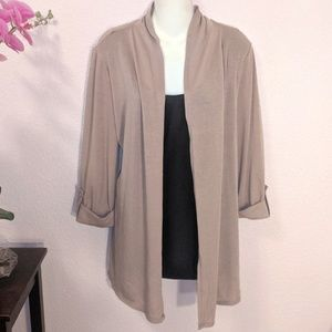 Tops - Layered look! Light Brown & Black top
